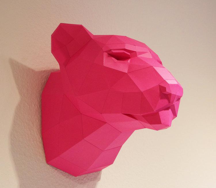 Leopard Paper Sculpture
