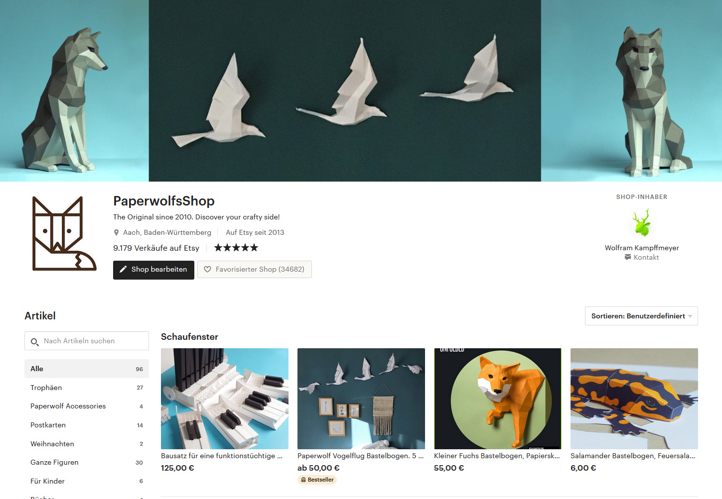 Paperwolf's Shop on Etsy